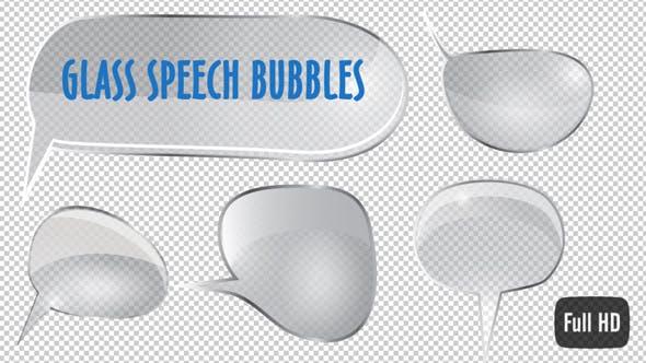 Glass Style Speech Bubbles