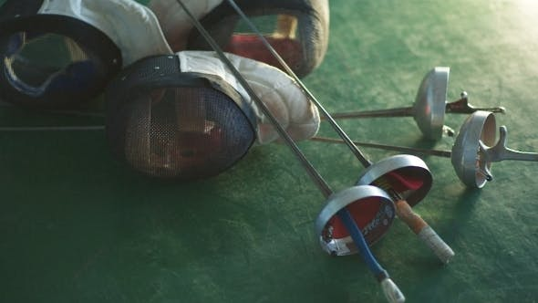 Thumbnail for Fencing Mask And Foil On The Floor