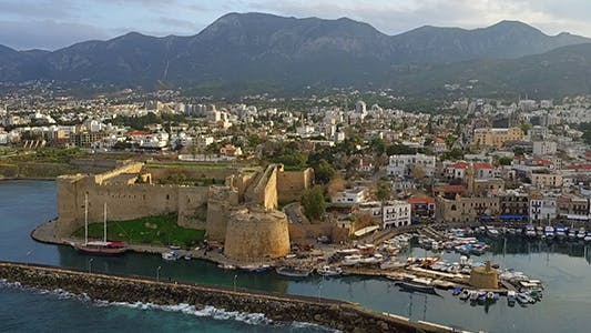 Cover Image for Harbour and Medieval Castle in Kyrenia City