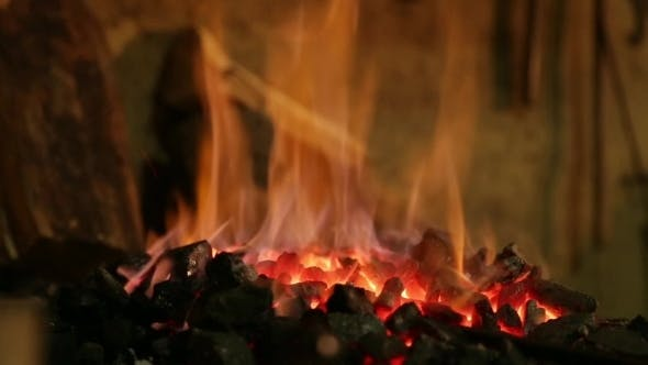 Thumbnail for Brightly Burning Fire In The Smithy