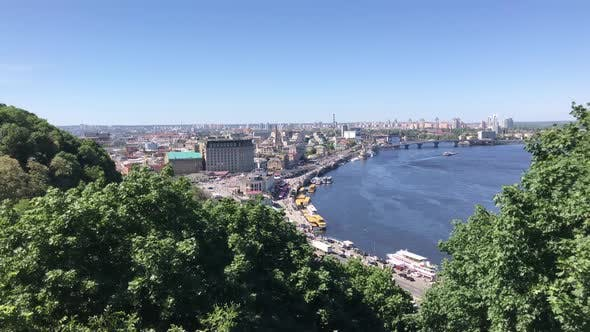 Thumbnail for Kiev city landscape seen from the Friendship of Nations Arch square