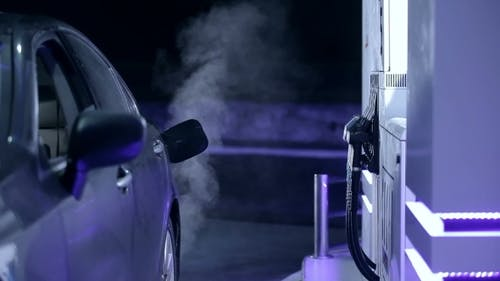 Car On a Refuelling Station.