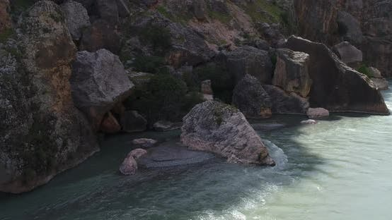 Thumbnail for Canyon River And Cliffs Aerial View 3