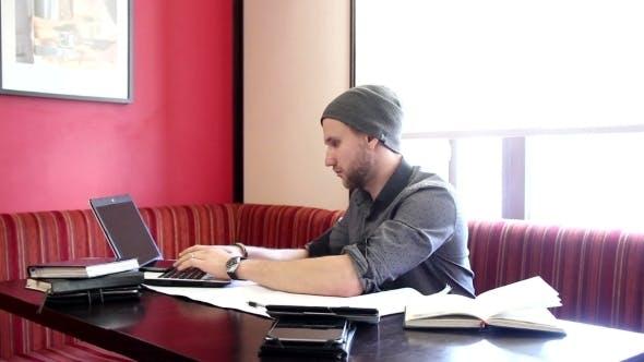 Thumbnail for Man Working At Laptop