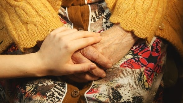 Cover Image for A Young Hand Comforting a Old Pair Of Hands