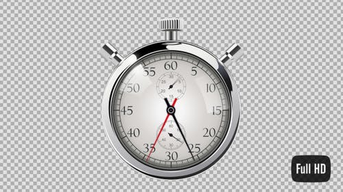 60 Second Countdown Clock - Silver Stop Watch