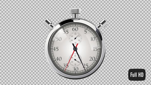Thumbnail for 60 Second Countdown Clock - Silver Stop Watch