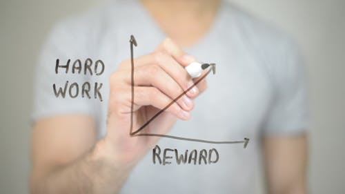 Work Hard, Reward Graph Illustration