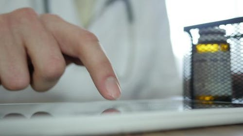 Doctor Typing Sms