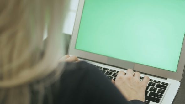 Thumbnail for Attractive Young Woman Use Laptop
