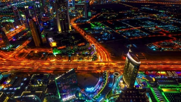 Thumbnail for Best Night View Highway In Dubai.