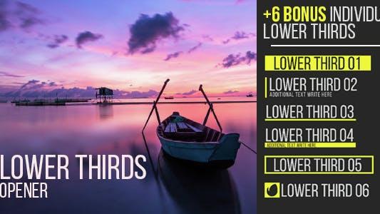 Thumbnail for Lower Thirds Opener