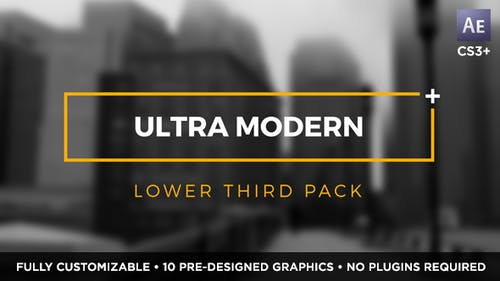 Ultra Modern Titles and Lower Thirds