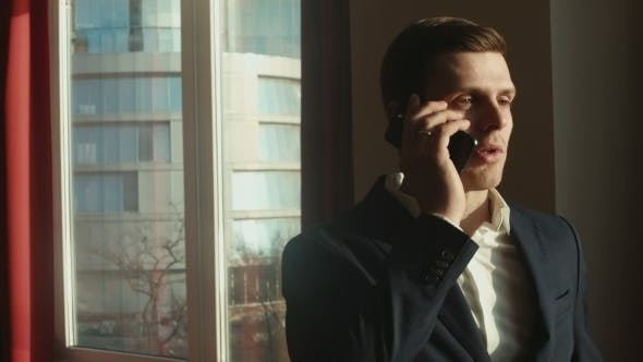 Thumbnail for Businessman Talking On The Phone