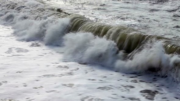 Thumbnail for Waves Rolling On The Beach On a Stormy Day