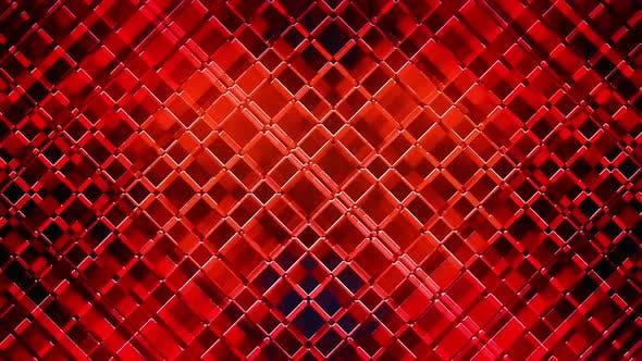VJ Red Neon Grid