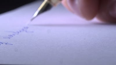 Writing a Letter On Paper