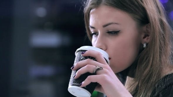 Thumbnail for Girl Drinking Coffee