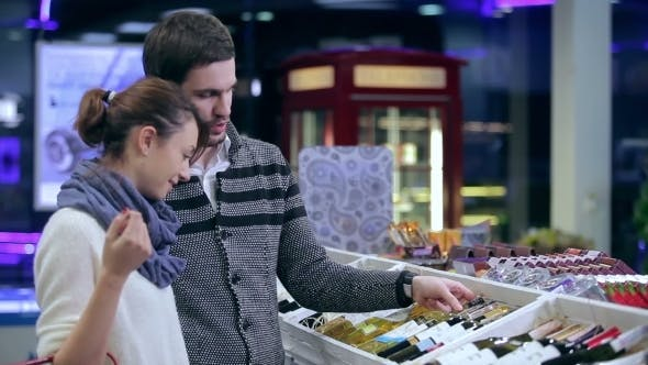 Thumbnail for Loving Couple Making Purchases In The Supermarket