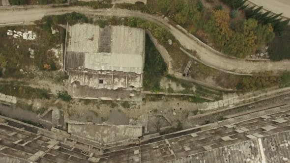 Thumbnail for AERIAL VIEW. Frame Of Unfinished Building Outside City