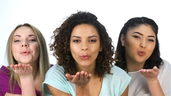 Thumbnail for Three Pretty Girls Blowing Kisses