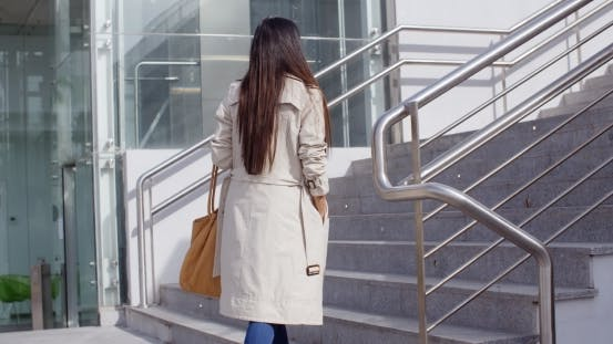 Thumbnail for Elegant Woman Walking Through Town
