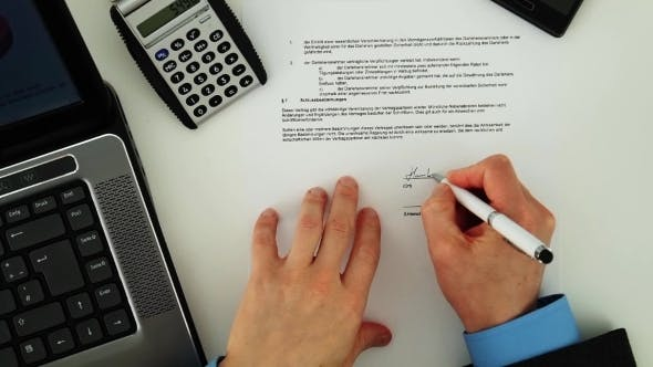 Thumbnail for Signing a Document