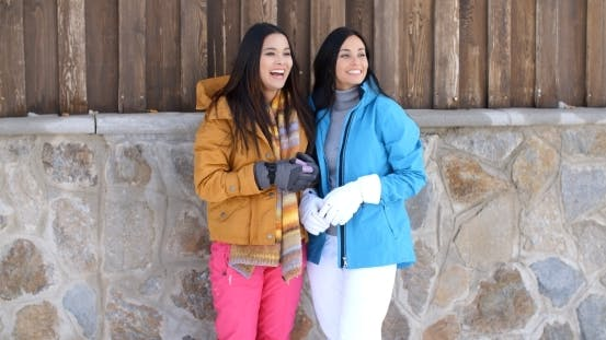 Thumbnail for Attractive Young Women In Stylish Winter Fashion