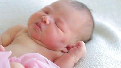Newborn Baby Wakes Up