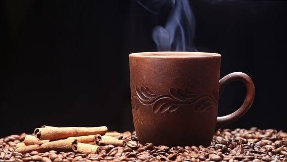 Thumbnail for Cup Of Coffee On Black Background