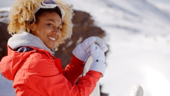 Thumbnail for Smiling Woman On a Ski Slope