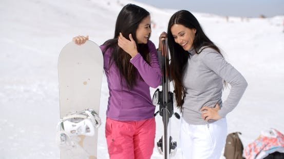 Thumbnail for Two Young Women On a Winter Vacation