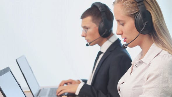 Thumbnail for Operators Call Center Talking with Customers
