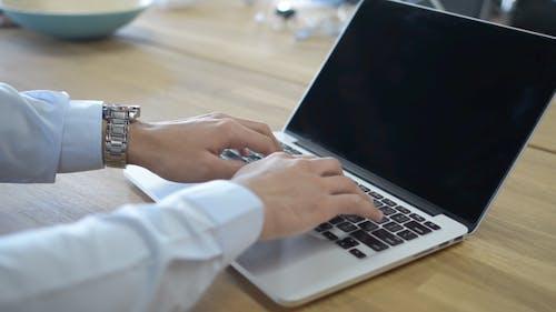 Online Work, Laptop, Typing