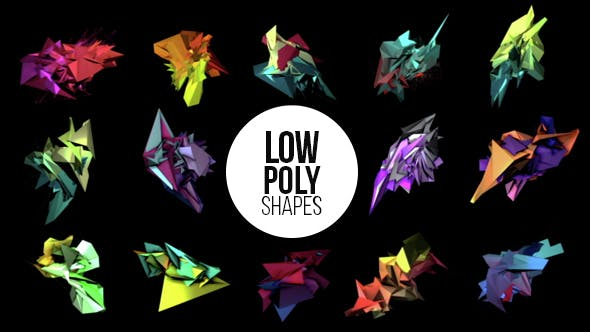 Thumbnail for Low Poly Shapes - Abstract 3D Elements Pack