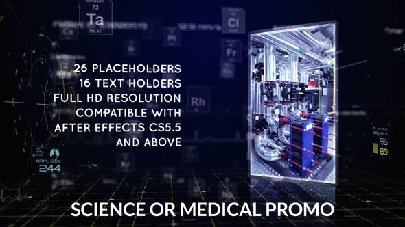 Thumbnail for Science or Medical Promo | After Effects Template