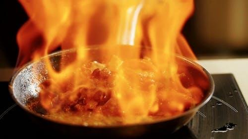 Cooking Fajitas . .