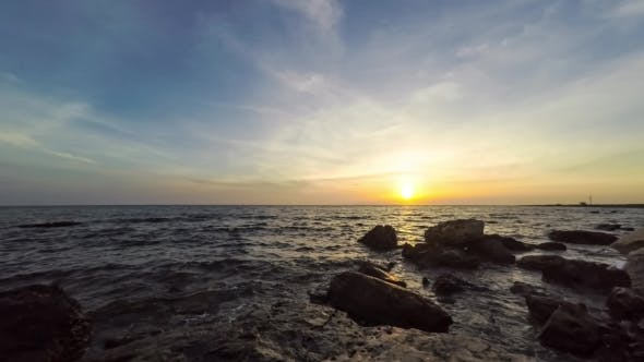 Thumbnail for Seascape View With Sunset