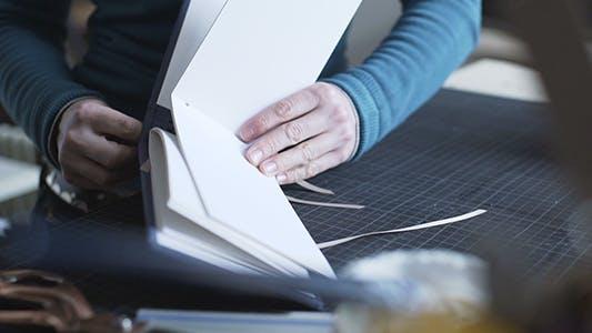 Thumbnail for Bookbinder Ties In Handmade Album Book