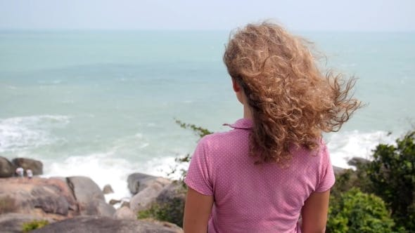 Thumbnail for Young Woman Enjoying Sea View On Vacation