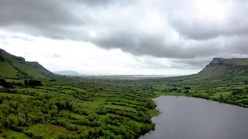 Aerial View of Glencar Lough in Ireland