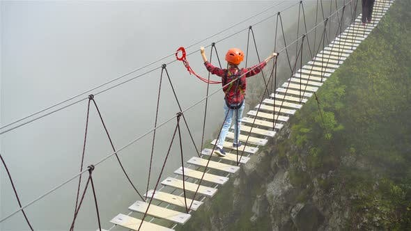 Thumbnail for The Rope Bridge on the Top of Mountain of Rosa Khutor, Russia