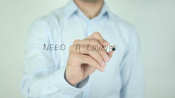 Thumbnail for Brauchen Sie einen Anwalt? , Schreiben auf dem Bildschirm