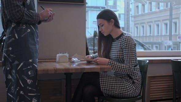 Thumbnail for Pretty Girl Makes An Order The Waiter Listens