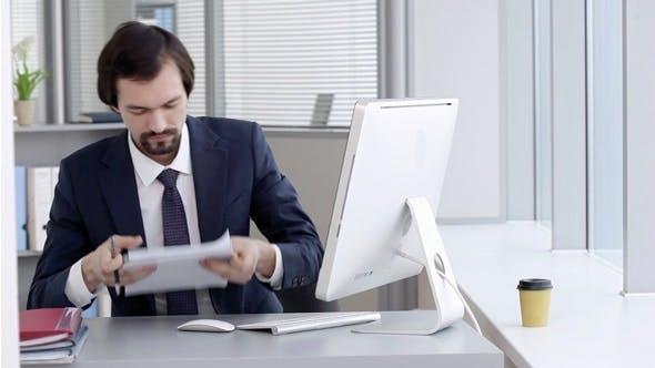 Der Manager im Büro