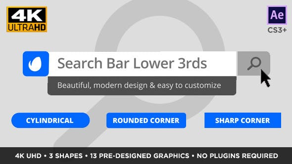 Thumbnail for Search Bar Titles and Lower Thirds