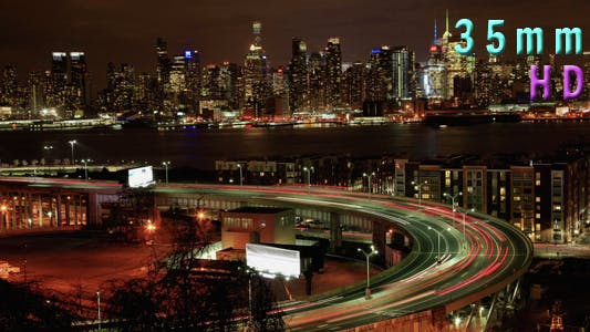 Cover Image for Traffic On The Helix At The Entrance In Lincoln Tunnel