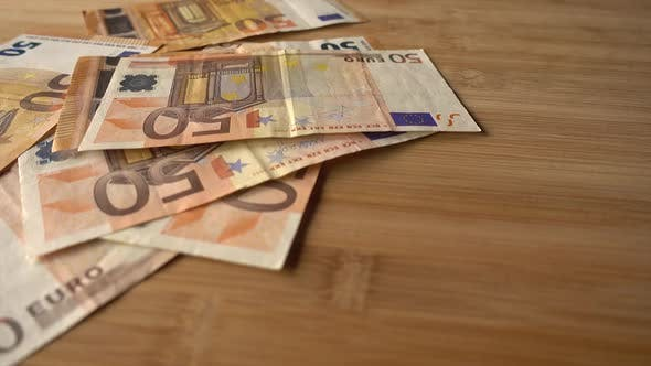 Cover Image for Droping Euro Bank Notes Money