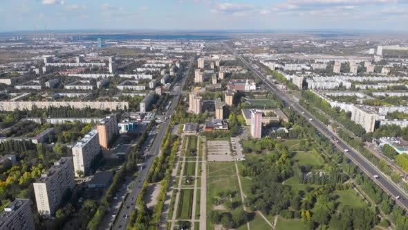 Aerial View. The City Is a Garden Designed During the Time of Socialism. Large Spaces and