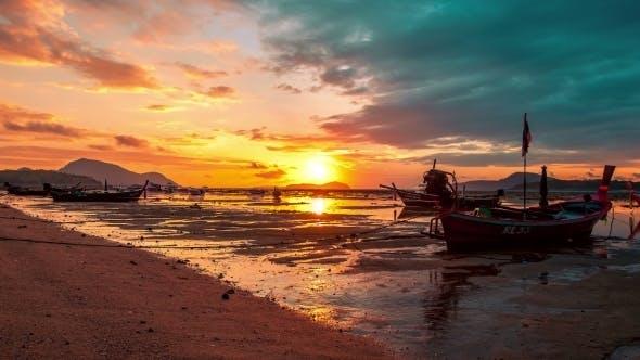 Cover Image for . Sunset In Rawai Beach, Phuket Island, Thailand